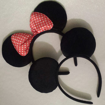 Minnie or Mickey Mouse Ears Headband