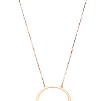 2 Bandits Half Turn Pendant Necklace in Metallic Gold