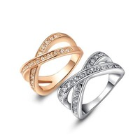 ON SALE - Channel Set Criss Cross Ring