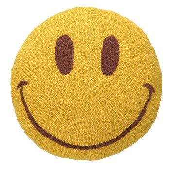 "Smile Face Hook Pillow 16""Rd"