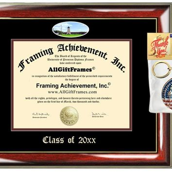 AllGiftFrames Custom Diploma Frame Embossed Diploma Frame TAMUG College Best Graduation Degree Texas A&M University Galveston Double Mat Campus Fisheye Picture Frame Cheap