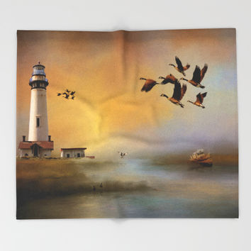 Homeward Bound Throw Blanket by Theresa Campbell D'August Art