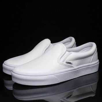 CREYONS Trendsetter Vans Slip-On Classic Leather Flats Sneakers Sport Shoes