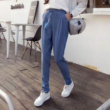 Autumn Vintage Cotton Linen Casual Pants [8664675847]