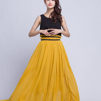 High Waist Wedding Skirt Chiffon Long Skirts Beautiful Elastic Waist Summer Skirt Floor Length Beach Skirt (201) 62#