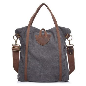 Canvas Large Capacity Vintage Handbag Shoulder Bags Crossbody Bags For Women