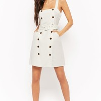 Linen Double-Breasted Dress