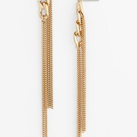 Stephan & Co. Chain Fringe Earrings (Juniors)
