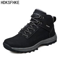 39-46 Winter leather Men Boots Work casual Boots Men Winter Shoes Male Rubber Snow Leather Ankle boots for men