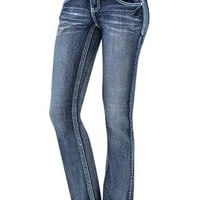 AMETHYST MID-RISE BOOTCUT JEANS