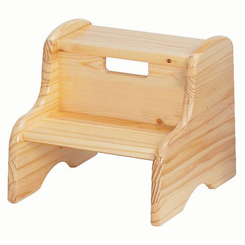 Little Colorado 105WDNA Natural Wooden Step Stool