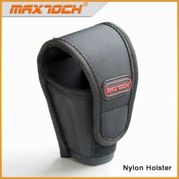MAXTOCH Flashlght Flexible Size Nylon Holster, Flashlight Bag Suitable for Most Large-Size Flashlights, Torch Pouch