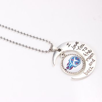 2018 Fashion Tennessee Titans Football Team Necklace & Pendants 60cm Long Necklace Charms Pendant Jewelry 10pcs/lot