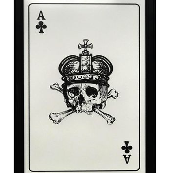 """Ace of Clubs Art Print / Poster - 13x19"""""""