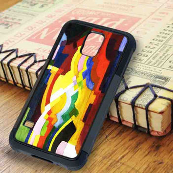 August Macke Abstract Cubist Painting Art Samsung Galaxy S5 Case