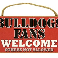 "Wincraft Georgia Bulldogs Fans Wood Sign  5""x10"" Welcome"