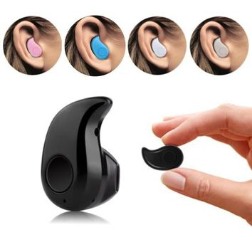 2016 Smallest Wireless Invisible Bluetooth Mini Earphone S530 Earbuds Headsets Headphones Support Heads-free Calling for All Sma