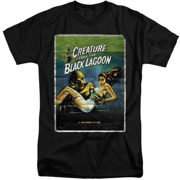 Creature from the Black Lagoon Tall T-Shirt Movie Poster Black Tee