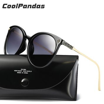 Coolpandas Oval Luxury Cat Eye Sunglasses Women HD Polarized Lens UV400 Oliver Peoples Trend Glasses Pink Brand Designer Eyewear