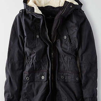 AEO Cotton Parka , Gray