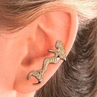 Mermaid Ear Cuff - Gold Vermeil -Left Ear Only