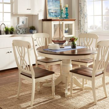 TRIBECCA HOME Mackenzie Country Style Two-tone Dining Set | Overstock.com Shopping - The Best Deals on Dining Sets