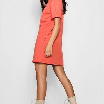 Scarlett Roll Back Ponte Shift Dress | Boohoo