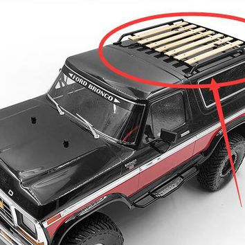 Metal/Wood Chassis Luggage Rack Bucket Fits 1/10 Scale RC TRAXXAS TRX4  bronco KING Ranger Crawler Truck 4x4
