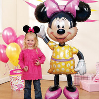 "Jumbo Minnie Mouse Airwalker 54"" Birthday Foil Balloon Decoration Party Supplies"