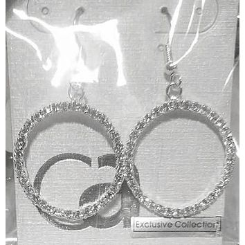 CZ Dangle Hoop Earrings