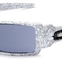 Oakley Men's Oil Rig Sunglasses,White Frame/Grey Lens,one size