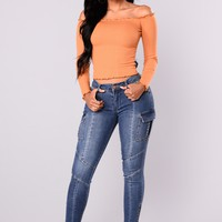 The Thrill Ankle Jeans - Medium Blue Wash