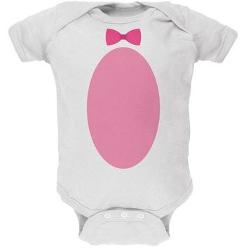 DCCKJY1 Easter - Bunny Costume White Soft Baby One Piece