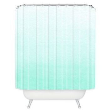 mint green shower curtain. DENY Designs Social Proper Ombre Shower Curtain in Mint Best Products on Wanelo