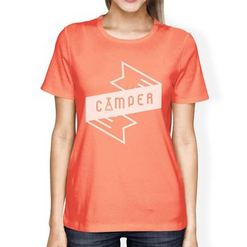 Camper Peach Cute Design Tee Summer Outdoor T Shirt Gifts For Her