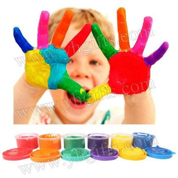 6PCS/LOT,30ml 6 color finger painting,Learning & Education toy.Drawing Toys,Finger art,Create your own hobby,Kindergarten crafts