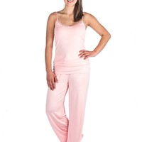 Noble Mount Womens Cool Knit Camisole Lounge Set