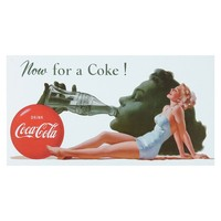 Coca-Cola Vintage Metal Wall Decor (White)