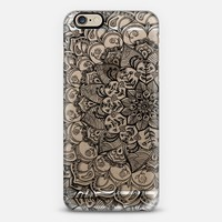 Shades of Crystal Grey Transparent Doodle iPhone 6 case by Micklyn Le Feuvre | Casetify