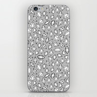 Crystals - Silver by Andrea Lauren iPhone & iPod Skin by Andrea Lauren Design | Society6