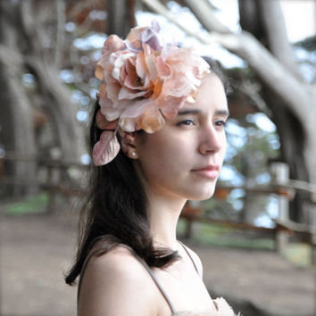 Large blush pink fascinator headband In shades of and by TutusChic