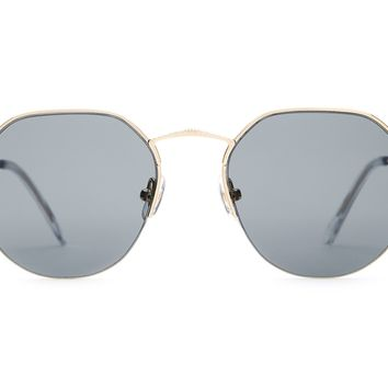 Crap Eyewear - Joy Brigade Brushed Gold + Crystal Sunglasses / Grey Polarized  Lenses