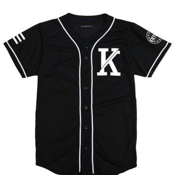 Knyew - Black Sandlot Baseball Jersey - Collection, T-Shirts, Knyew - KNYEW Clothing Boutique