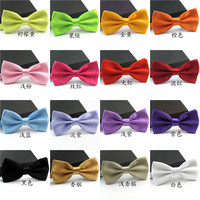 Free Shipping Fashion Bow Tie For Groom Men Black Blue Red Purple Solid Color Bowtie Wedding Adjustable Candy Cravat Gravata