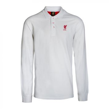 Liverpool FC - White Long Sleeve Polo Shirt