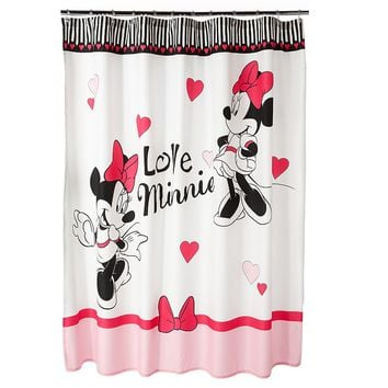 Disney Minnie Mouse Ooh La La Fabric Shower Curtain