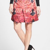 Ted Baker London 'Jungle Orchid' Print A-Line Skirt