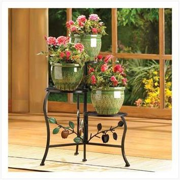 Cast Iron Wrought Iron Country Apple Plant Stand