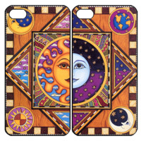 Sun and MoonSamsung Galaxy S3 S4 S5 Note 3 4 , iPhone 4 4S 5 5s 5c 6 Plus , iPod Touch 4 5 , HTC One M7 M8 ,LG G2 G3 Couple Case
