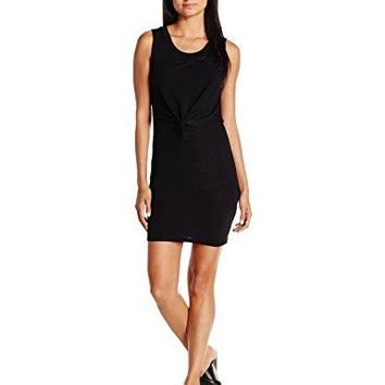 Derek Heart Womens Scoop Neck Dress with Tie Front Overlay